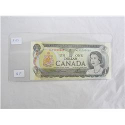 Scarce One Dollar Replacement Note 1973