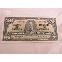 Twenty Dollar Bill 1937