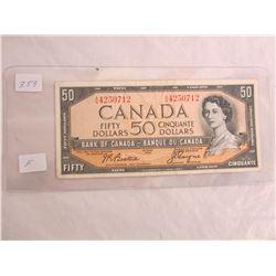 Fifty Dollar Bill 1954