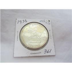 Canadian Silver Dollar 1973