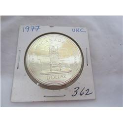 Canadian Silver Dollar 1977