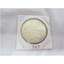 Large Belgium 500 Franc Coin
