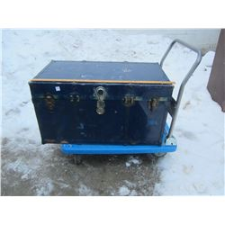 Blue Metal Steamer Trunk pictures later