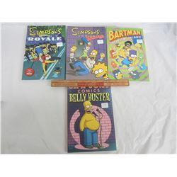 4 Vintage Simpsons Graphic Novels circa 1994