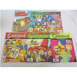 6 Vintage Simpsons comic books