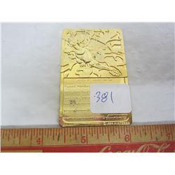 Pokémon gold plated Charizard Bar