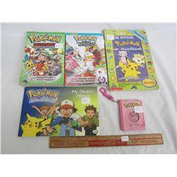 4 Vintage Pokémon books and sticker book