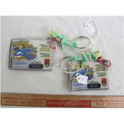Vintage 2002 lot of 2 Pokémon key chains