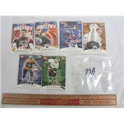 Lot of 6 Wayne Gretzky Post Cereal 1999 hockey cards