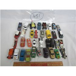 Lot of 35 Hot Wheels styled cars ect