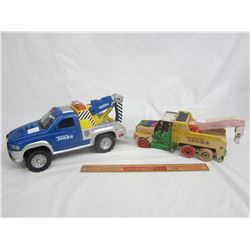 Lot of 2 Tonka Toys Dodge is battery operated the other is wooden