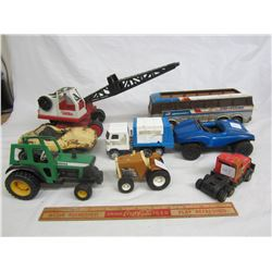Lot of 8 vintage Tonka and Buddy l toys
