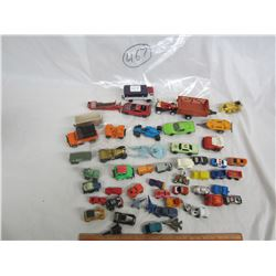 Lot of 30 mixed hot wheels style cars and trucks