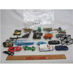 Lot of 24 mixed hot wheels style cars and trucks
