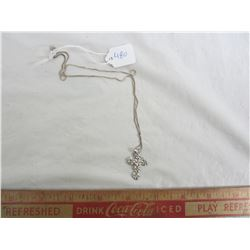 Vintage Sterling Silver Cross with silver chain
