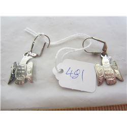 Vintage Sterling Silver Thunder Bird earrings