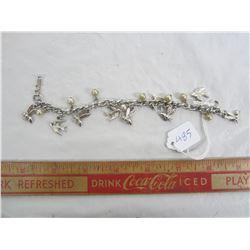 Vintage Cora charm bracelet