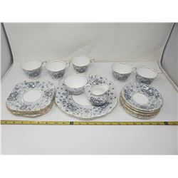19 pieces Royal Chelsea (Love Lace) China