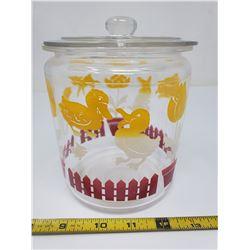 cookie jar (chip on lid)