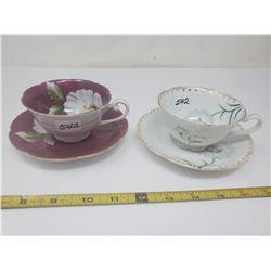 2 occupied Japan cups & saucers