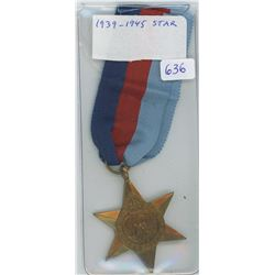 1939-45 Star The First In A Series Of 9 Bronze  Stars Issued In The Second World War Awarded To Pers