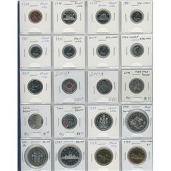 Lot Of 20 Collector Coins Including 1 Cent, 5 Cents, 10 Cents, 25 Cents, Nickel Dollars And Loons Al