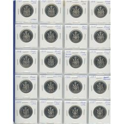 Complete Set Of 50 Cents 1968-1987- A Proof Like (1 With Cameo) And Specimen- A Nice Set