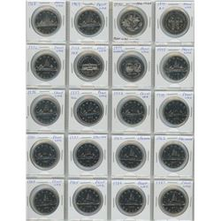 Complete Set Of 20 Canadian Nickel Dollars 1968-1987- All Proof Like And Specimen- A Nice Set
