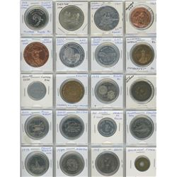 Lot Of 20 Different Trade Dollars, Medals & Tokens- Includes 1976 Swift Current Summer Games, Yorkto