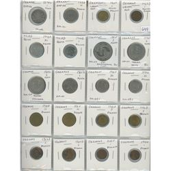Lot Of 20 Different German Coins Including German Empire 1872G 1 Silver Mark, Weimar Republic, Third