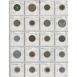 Lot Of 20 Asian Coins Including Chinese Empire 1796-1820 Cash, Hong Kong, India, Indonesia, Japan, S