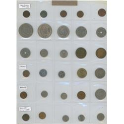 Lot Of 30 Different Scandinavian Coins From Denmark (Including 1891 1 Ore) Finland Norway And Sweden