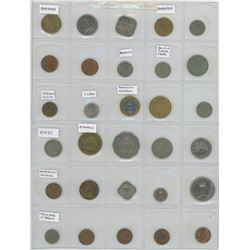 Lot Of 30 Different Caribbean Coins From 11 Countries: Bahamas, Barbados, Bermuda, British Caribbean