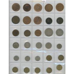 Lot Of 30 Different British Coins Including Queen Victoria, Edward VII, George V, George VI And Eliz