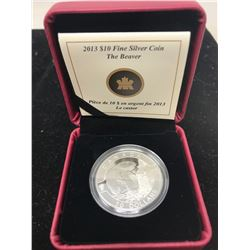 2013 Beaver $10. .9999 pure silver. In case of issue. Only 38,560 sold. Proof.
