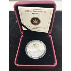 2013 Orca $10. .9999 pure silver. In case of issue. Only 30,834 sold. Proof.