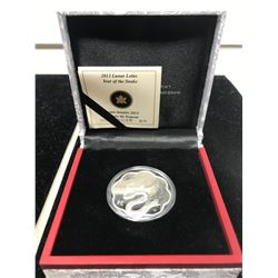 2013 Lunar Lotus Year of the Snake $15. .9999 pure silver. In case of issue. Proof.