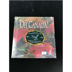 1997 Oh Canada set featuring the 10thAnniversary of the Aureate (loon) Dollar with flying loon. In