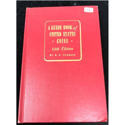 A Guide Book of United States Coins 1960 13thEdition. By R.S. Yeoman. The famous Red Book. Hard Cov