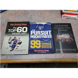 3 hockey books