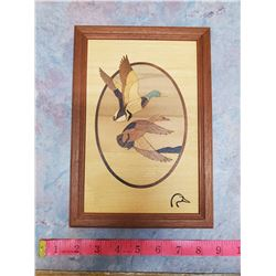 Ducks Unlimited inlayed wood picture