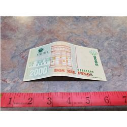 columbia bill 2000 pesos