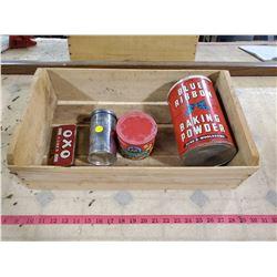 grape box w/ tins (blue ribbon, oxo, etc)