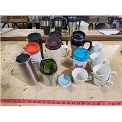 lot of coffee cups & mugs