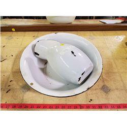 enamel pitcher & basin