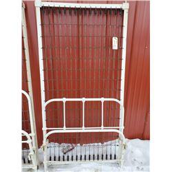 metal bed frame, headboard, footboard (single)