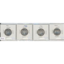 Four U ited States Silver Quarters