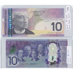 Canadian Ten Dollar Notes - 2005 Printed in 2009 and 2017