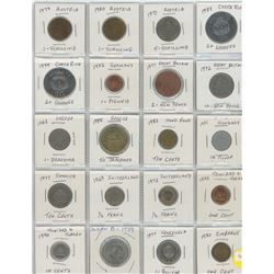 Two Pages - 40 World Coins