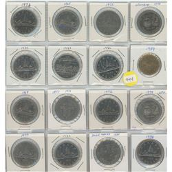 16 Canadian Dollar Coins - 15 Nickel Dollars & 1 Loonie